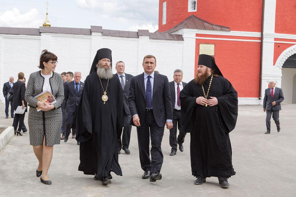 Приезд губернатора Тульской области