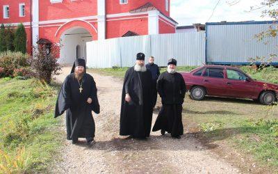 Епископ Никита посетил Белевский Спасо-Преображенский Крестовоздвиженский мужской монастырь.